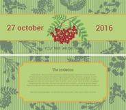 Uitnodiging voor de bloemverkoop Royalty-vrije Stock Foto's