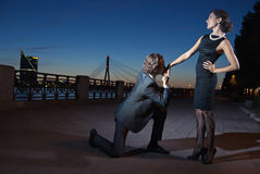 Uitnodiging voor de dans Stock Fotografie
