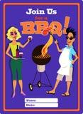 Uitnodiging voor een malplaatje van de barbecuepartij Royalty-vrije Stock Foto's