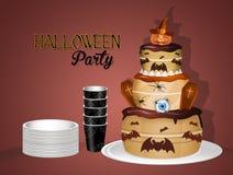 Uitnodiging voor Halloween-partij vector illustratie