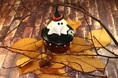 Uitnodiging voor Halloween-spook in een hoed Stock Foto
