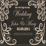 Uitnodiging voor het huwelijk vector illustratie