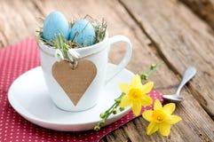 Uitnodiging voor Pasen-ontbijt met copyspace Royalty-vrije Stock Foto's