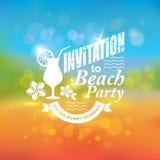 Uitnodiging voor strandpartij Stock Foto's