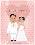 Uitnodigingenkaarten voor Huwelijksmalplaatjes karakterontwerp - vectorillustratie royalty-vrije stock afbeelding