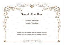 Uitnodigingskaart met bloemornamenten Stock Foto