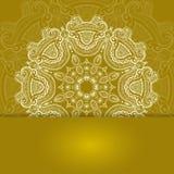 Uitnodigingskaart met kantornament Royalty-vrije Stock Afbeeldingen