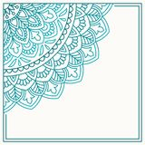 Uitnodigingskaart met mandala Royalty-vrije Stock Afbeelding