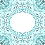 Uitnodigingskaart met mandala Royalty-vrije Stock Foto's