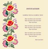 Uitnodigingskaart voor huwelijk, verjaardag en andere vakantie Stock Foto