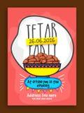 Uitnodigingskaart voor Iftar-Partijviering Royalty-vrije Stock Afbeeldingen