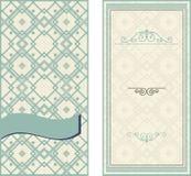 Uitnodigingskaarten op uitstekende geometrische achtergrond Royalty-vrije Stock Afbeelding