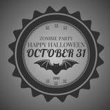 Uitnodigingssticker Halloween Royalty-vrije Stock Foto's