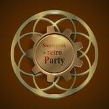 Uitnodigingsvlieger op retro steampunkpartij Royalty-vrije Stock Afbeeldingen