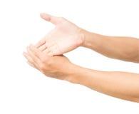 Uitrekt oefeningenvinger die op witte achtergrond met cl wordt geïsoleerd Royalty-vrije Stock Afbeelding
