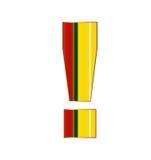 Uitroepteken in kleurrijke lijnen op witte achtergrond Royalty-vrije Stock Afbeelding