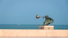 Uitrustend het Wereldbeeldhouwwerk, Katara, Doha, Qatar Royalty-vrije Stock Foto's