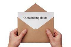 Uitstaande schulden Stock Afbeelding