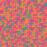 Uitstekend abstract naadloos vectorpatroon Het naadloze kleurrijke heldere vectorpatroon van de mozaïekcirkel Grafische stijl voo Stock Foto's