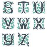 Uitstekend alfabet. Deel 3 Royalty-vrije Stock Fotografie