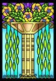 Uitstekend art deco bloemenontwerp royalty-vrije illustratie