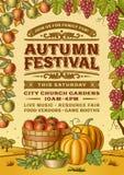 Uitstekend Autumn Festival Poster vector illustratie
