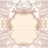 Uitstekend barok frame als achtergrond Stock Foto's