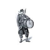 Uitstekend beeld Franse militairen van recent - Th-19 eeuw Stock Afbeeldingen