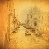 Uitstekend beeld van de kanalen van Venetië Stock Afbeelding