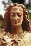 Uitstekend beeld van een engel Retro gestileerd Geloof, godsdienst, Christendomconcept stock foto