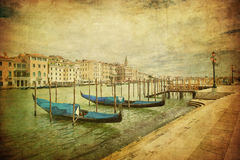 Uitstekend beeld van Groot Kanaal, Venetië Royalty-vrije Stock Afbeelding