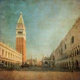 Uitstekend beeld van Piazza San Marco royalty-vrije stock afbeeldingen