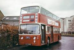 Uitstekend beeld van Schotse Bus royalty-vrije stock afbeeldingen