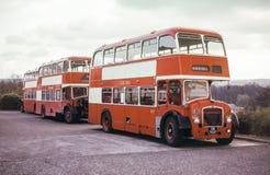 Uitstekend beeld van Schotse Bussen stock foto's