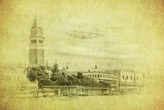 Uitstekend beeld van Venetië, Italië Royalty-vrije Stock Foto's