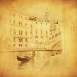 Uitstekend beeld van Venetië, Italië Royalty-vrije Stock Afbeelding