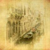 Uitstekend beeld van Venetië, Italië Stock Afbeeldingen