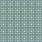 Uitstekend Beige en Blauw Patroon Stock Afbeeldingen