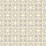 Uitstekend beige en purper patroon stock illustratie