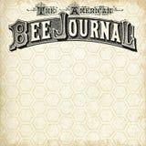 Uitstekend Bijenstal Gevormd Document - Uitstekende Bijen - Bijenkoningin - Hommel - Boerderijstijl - Zwarte - Wit stock afbeelding