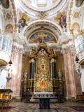 Uitstekend Binnenland van kerk, Wieskirche - Steingaden, Duitsland Stock Foto's