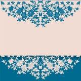 Uitstekend blauw en room bloemenachtergrond Stock Foto's