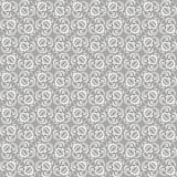 Uitstekend blauw grijs ornament, vector naadloos patroon in neutrale kleur Stock Afbeeldingen
