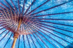 Uitstekend blauw kleuren traditioneel Japans of Aziatisch document - katoen stock fotografie