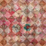Uitstekend Bloemen Boheems Tapijtwerk Stock Fotografie