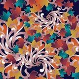 Uitstekend bloemen naadloos patroon royalty-vrije illustratie