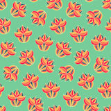 Uitstekend bloemen naadloos patroon Kleurrijke eindeloze achtergrond met bloemen royalty-vrije illustratie