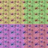 Uitstekend bloemen naadloos patroon met hand getrokken elementen Stock Fotografie