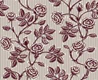 Uitstekend bloemen naadloos patroon met klassieke hand getrokken rozen Stock Foto's