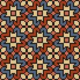 Uitstekend bloemen naadloos stikkend patroon in desaturated kleuren Stock Fotografie